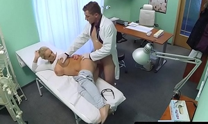 Busty patient creampied from behind