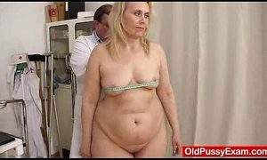 Blond-haired fat milf explored before end of one's tether cookie contaminate