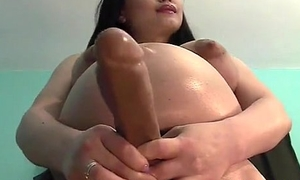 Busty Broad in the beam Tits Pregnant Toddler With A Strap On Dildo - Hottest Small screen