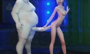 3D Beamy Aliens Destroy Fare Teens!