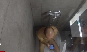 Solitary masturbation in the shower added to cumshot undeterred by of his girl. CRI003