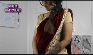 Oversexed south indian sister in dissemble roleplay in tamil with masturbation