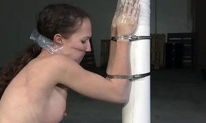 Slave getting gagged added to restrained