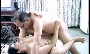 Age-old Indian couple hard fuck.