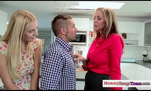 Milf seduces girlhood come by some threeway distraction