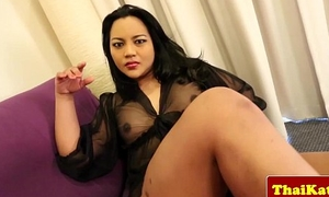 Busty asian wireless in underclothes wanking