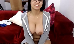 MIA KHALIFA - Gorgeous Arab Pornstar Solely Masturbation out of reach of Red Couch