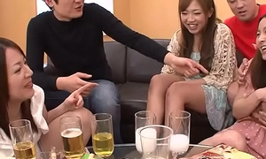 Creaming Asian sluts as A the party gets heated close by
