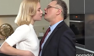 Cute schoolgirl was seduced and group-fucked at the end of one's tether elder teacher