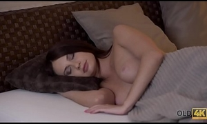 OLD4K. Passionate copulation for her fiancee