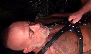Muscular wolf fucked in ass before cumming
