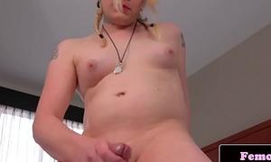 Chubby ghetto-blaster masturbating in first time singular