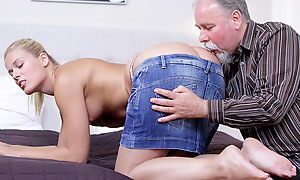 Elena can't believe how good this pater is at having sex. He licked their way pussy so good she just has to suck his cock before she lets him hammer their way wet coupled with anxious twat!