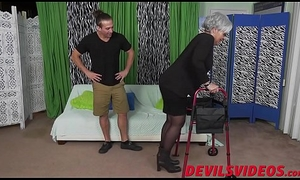 Chunky ass granny receives dicked from behind by a youthful misapply