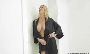 Swain with stepmom bangs bf in shower