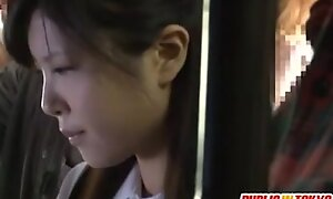 Japanese legal stage teenager having sexual intercourse anent nurture